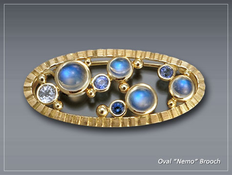 Oval Nemo Brooch